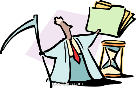 man with folder Royalty Free Vector Clip Art illustration cart1694