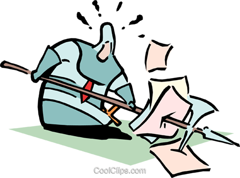 getting through the work Royalty Free Vector Clip Art illustration cart1761