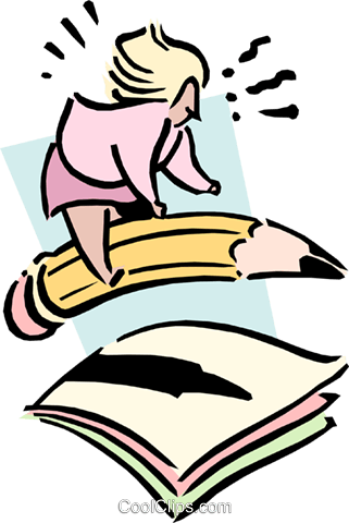 woman writing letter Royalty Free Vector Clip Art illustration cart1782