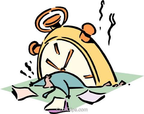 time management Royalty Free Vector Clip Art illustration cart1813