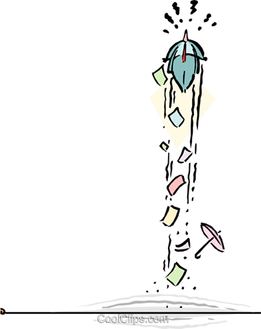 performing a balancing act Royalty Free Vector Clip Art illustration cart1823