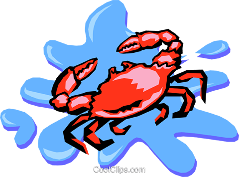 crab Royalty Free Vector Clip Art illustration anim1410