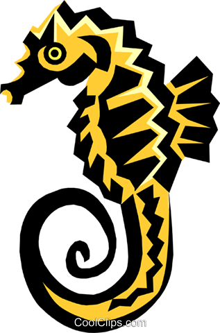 seahorse Royalty Free Vector Clip Art illustration anim1428