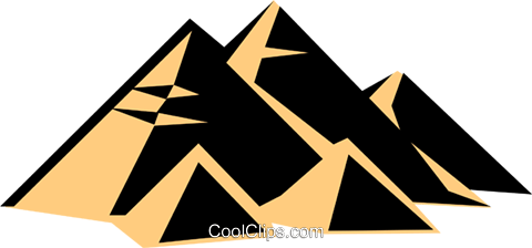 pyramids Royalty Free Vector Clip Art illustration arch0355