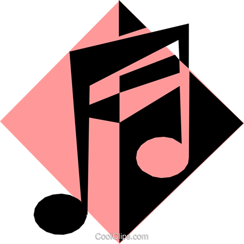 musical notes symbol Royalty Free Vector Clip Art illustration arts0339