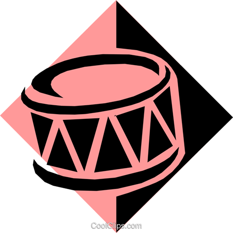 drum symbol Royalty Free Vector Clip Art illustration arts0342
