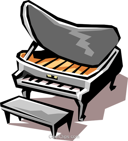 grand piano Royalty Free Vector Clip Art illustration arts0366