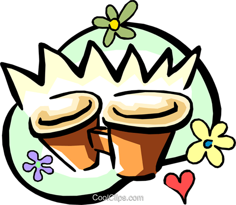 flower pots Royalty Free Vector Clip Art illustration arts0367