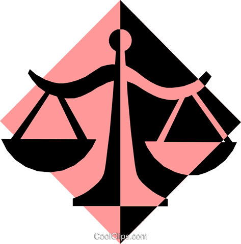 scales of justice Royalty Free Vector Clip Art illustration busi0974