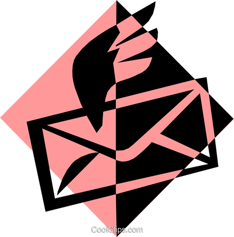 envelope airmail symbol Royalty Free Vector Clip Art illustration busi0979