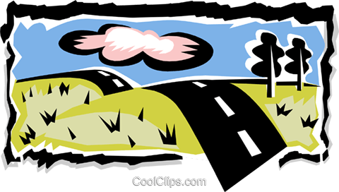 highway Royalty Free Vector Clip Art illustration natu0640