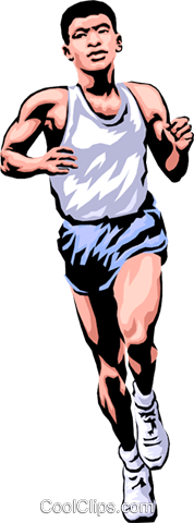 Man running race Royalty Free Vector Clip Art illustration peop1783