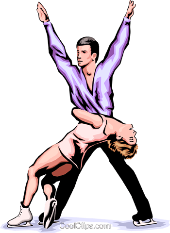 Pairs figure skating Royalty Free Vector Clip Art illustration peop1799