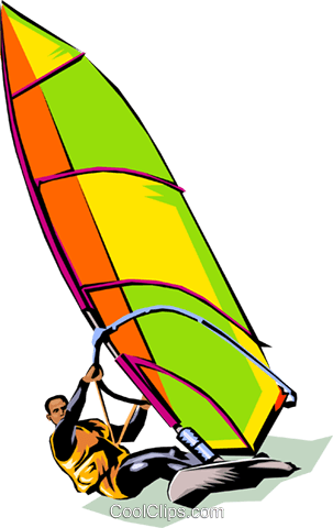 Wind surfer Royalty Free Vector Clip Art illustration peop1809