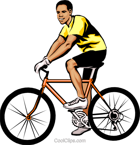 Man on bicycle Royalty Free Vector Clip Art illustration peop1812