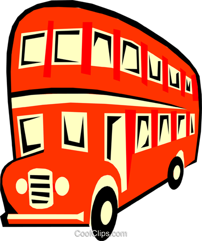 double-decker bus Royalty Free Vector Clip Art illustration tran0595