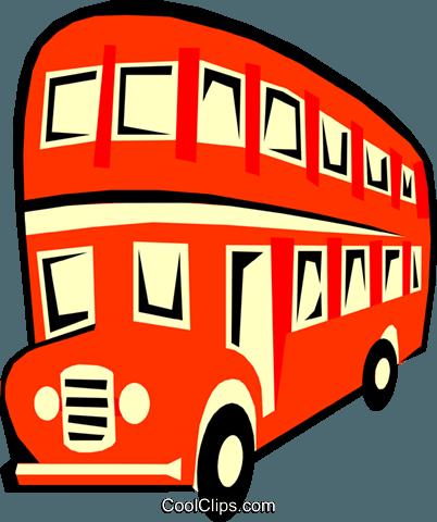 Doppeldecker-Bus Vektor Clipart Bild -tran0595-CoolCLIPS.com