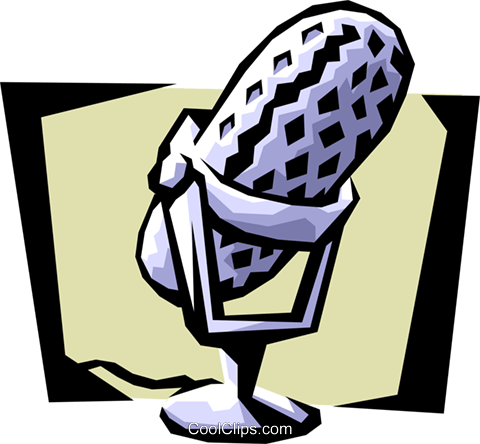 microphone Royalty Free Vector Clip Art illustration arts0383