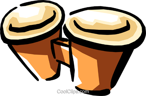 bongos Royalty Free Vector Clip Art illustration arts0384