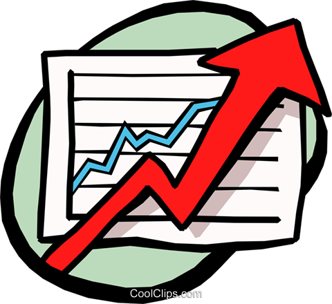 charting success Royalty Free Vector Clip Art illustration busi0995