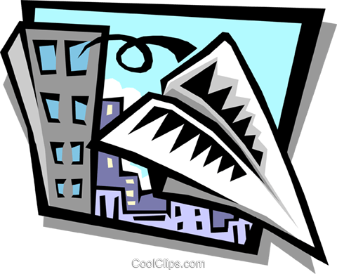 paper airplane Royalty Free Vector Clip Art illustration busi1006