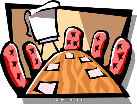 boardroom Royalty Free Vector Clip Art illustration busi1007