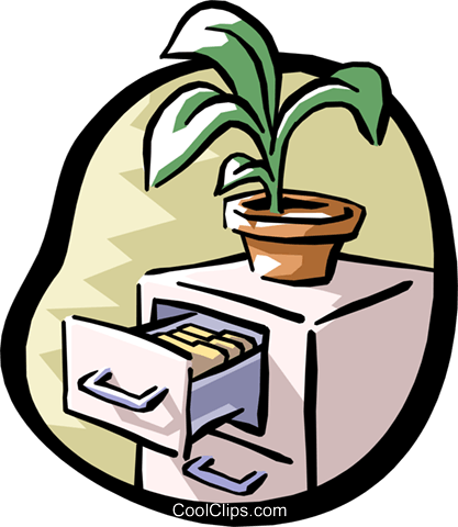 filing cabinet Royalty Free Vector Clip Art illustration busi1023