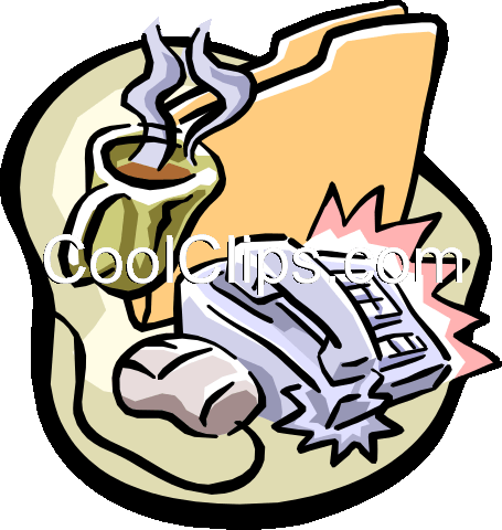 business desk Royalty Free Vector Clip Art illustration busi1024