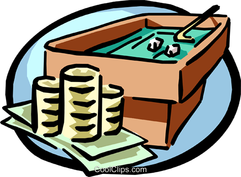gambling with your money Royalty Free Vector Clip Art illustration busi1027