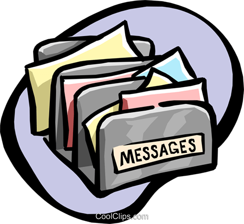 message sorter Royalty Free Vector Clip Art illustration busi1033