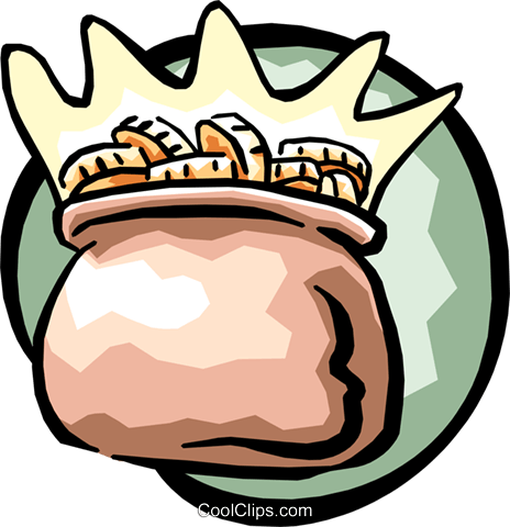 pot of gold Royalty Free Vector Clip Art illustration busi1043