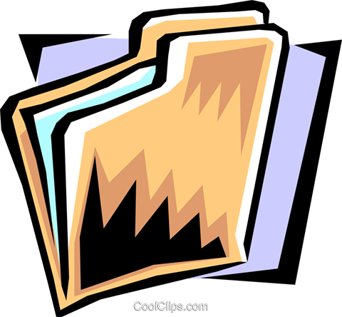 file folder Royalty Free Vector Clip Art illustration busi1050