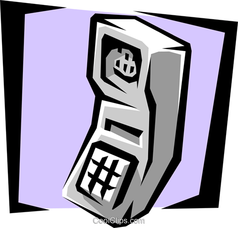 cell phone Royalty Free Vector Clip Art illustration busi1051