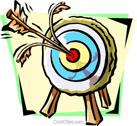 bull's-eye Royalty Free Vector Clip Art illustration busi1056