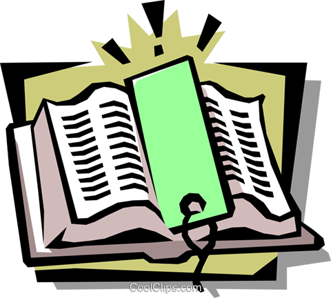 book with bookmark Royalty Free Vector Clip Art illustration busi1061