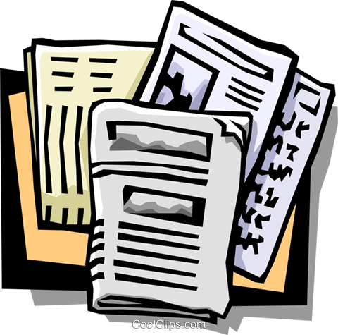 newspapers Royalty Free Vector Clip Art illustration busi1070
