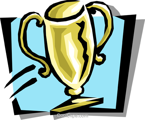 trophy Royalty Free Vector Clip Art illustration busi1072