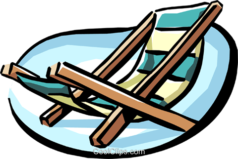 Lounge chair Royalty Free Vector Clip Art illustration hous0920