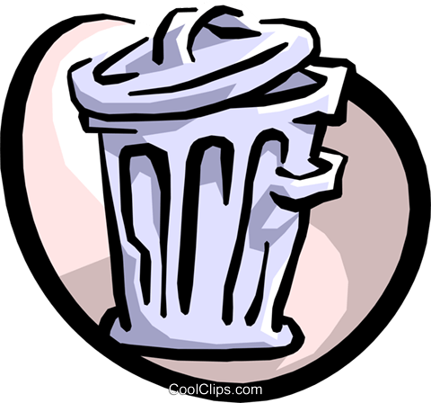 garbage can Royalty Free Vector Clip Art illustration hous0921