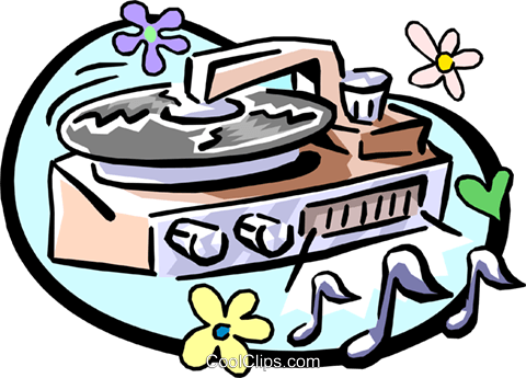 record player Royalty Free Vector Clip Art illustration hous0928