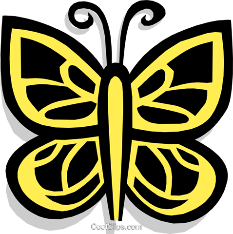 butterfly Royalty Free Vector Clip Art illustration anim1436