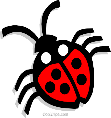 ladybug Royalty Free Vector Clip Art illustration anim1437