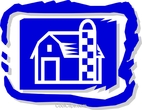 barn Royalty Free Vector Clip Art illustration arch0363