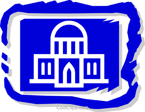 government building Royalty Free Vector Clip Art illustration arch0365