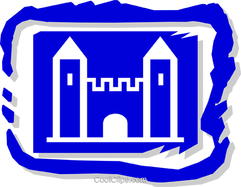 castle Royalty Free Vector Clip Art illustration arch0366