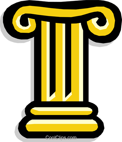 Ionic column Greek Royalty Free Vector Clip Art illustration arch0367