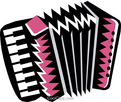 squeeze-box accordion Royalty Free Vector Clip Art illustration arts0390