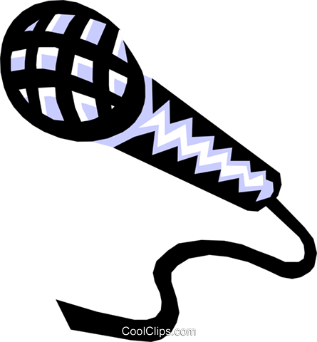 microphone Royalty Free Vector Clip Art illustration arts0396
