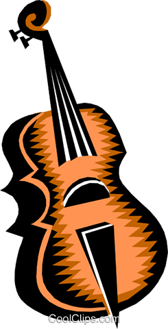 violin Royalty Free Vector Clip Art illustration arts0401