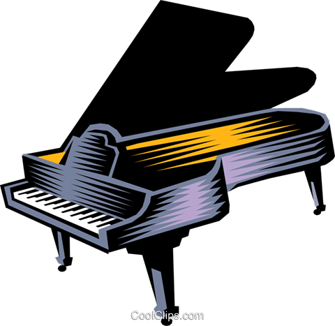 grand piano Royalty Free Vector Clip Art illustration arts0402